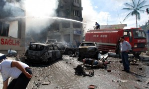 Aftermath of car bombs in Reyhanli, Turkey